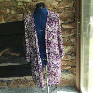 CJ Banks Gorgeous Loose Knit Kimono Cardigan